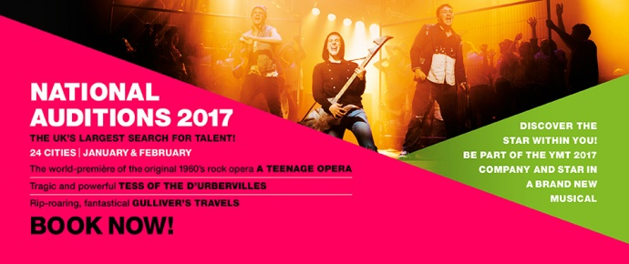 Youth Music Theatre UK 2016 National Auditions YMT Youth Theatre