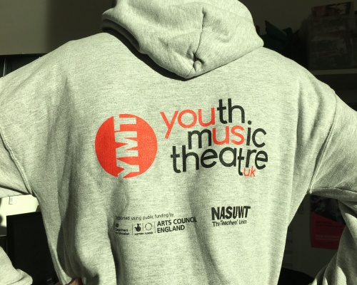 Sean runs the marathon. British Youth Music Theatre BYMT